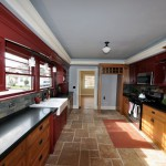 Red Kitchen Wide