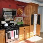 Red Kitchen Side